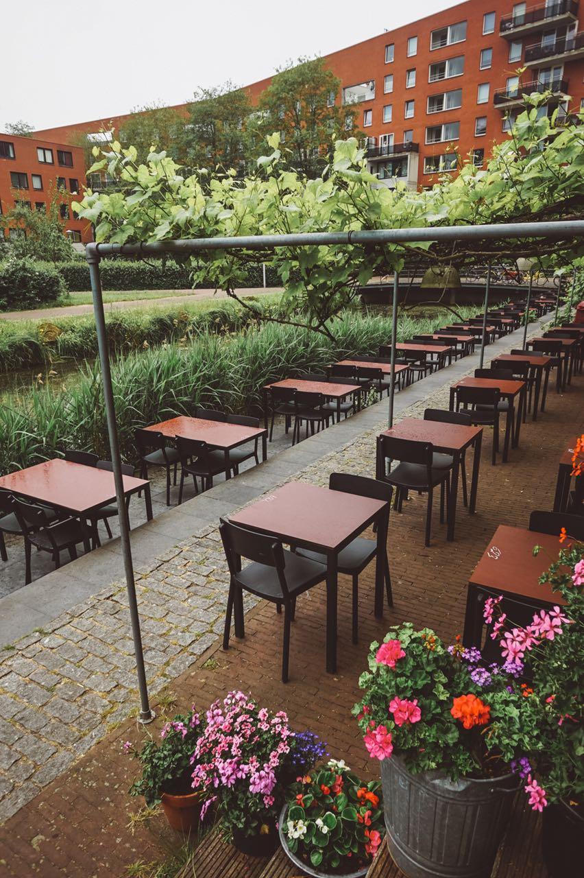 Mesas externas - Café Restaurante Amsterdam
